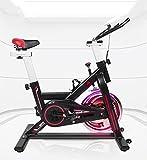 EVOLAND Indoor Exercise Bike, Magnetic Exercise Bike, LCD Display, Spinning Bike with Unlimited Resistance, Kettle Holder, Adjustable Seat - Black
