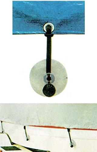 PARACHINI shop Kit 4 Ventose con Elastico terminale per Fissaggio Teli copribarche Copri Barca