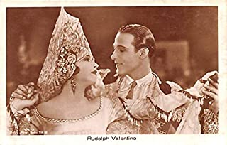 Rudolph Valentino Movie Star Actor Actress Film Star Postcard, Old Vintage Antique Post Card Unused