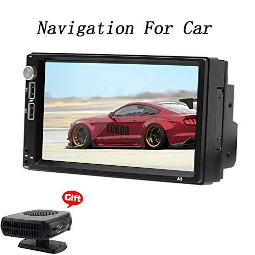 XBRMMM Sistema Navegación GPS Navegación por Satélite, 7 Pulgadas 1 + 16GB Camión Pantalla Táctil Capacitiva Dispositivo Navegador Satelital Mapas Precargados Gratuitas por Vida, WiFi BT