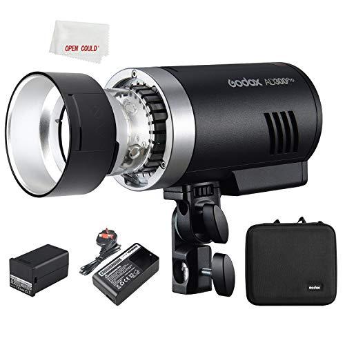 Godox AD300PRO - Batería de litio para exteriores (300 W, 1/8000s HSS, TTL, flash integrado, 2,4 G, para Nikon, Canon, Sony, Fuji, Pentax, Olympus