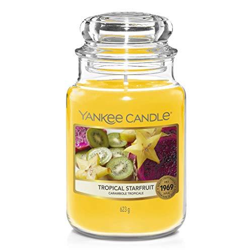 Yankee Candle - Candela a forma di stella tropicale, barattolo grande classico