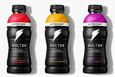 Bolt 24 Hydration Fueled By Gatorade Variety Packs (Bolt 24 Antioxident, 12 Bottles)