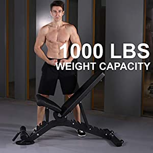 Semi-Commercial Adjustable FID Weight Bench for Dumbbell Workout, Bench Press and Strength Training. The Only Exercise Bench You will Need for Your Home Gym.