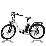 Bici Electricas, Wind SPEED26 Pulgadas, Ebike Bicicleta Eléctrica Ciudad Holandesa para Adultos, Motor de 250 w y Batería de Iones de Litio Extraíble de 36 v 8 Ah,Shimano de 7 Velocidades,