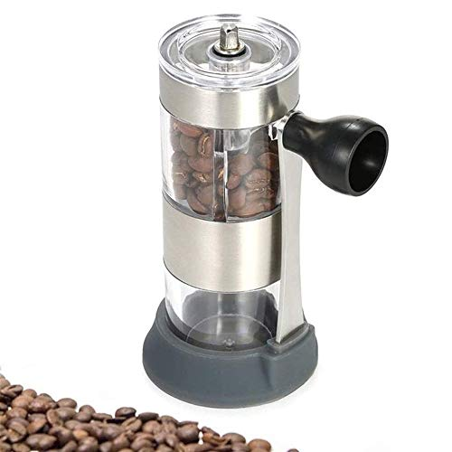 Great Features Of Stainless Steel Manual Coffee Grinder with Base, New Multi-function Portable Mini ...