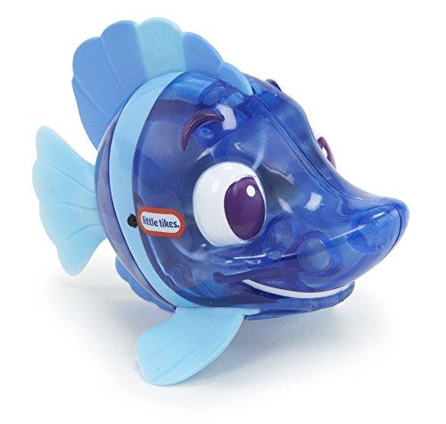 Little Tikes 173820GR Sparkle Bay Funkelfisch Damselfisch Wasserspielzeug mit Leucht- und Schwimmfunktion, Badewannenspielzeug für Kinder ab 3 Jahren, blau
