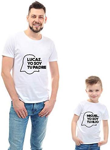 Regalo Personalizable para Padres e Hijos: Camisetas 'Yo Soy tu Padre' Personalizadas con Sus Nombres