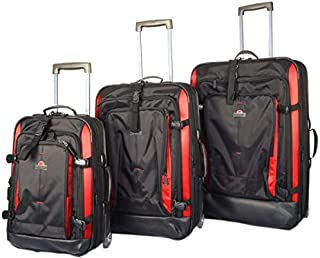 Eminent Semi Hard Fancy EVA Luggage Trolley Case AL04 (20+25+29, Black Red)