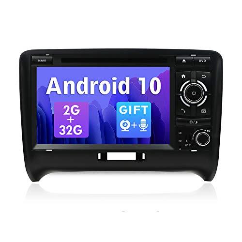 SXAUTO Android 10 Autoradio Compatibile con Audi TT (2006-2011)- [2G/32G] - 2 Din - GratuitiTelecamera Posteriore & Canbus - Supporto DAB 4G WiFi Bluetooth5.0 Volante MirrorLink Carpaly - 7 pollici
