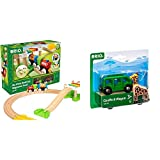 Brio My First Railway – 33727 Beginner Pack | Wooden Toy Train Set for Kids Age 18 Months and Up & World - 33724 Giraffe and Wagon | 2 Piece Toy Train Accessory for Kids Ages 3 and Up