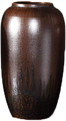 Vaser Vase Grave Ceramic Retro Keramik Heminredning Bänkskiva FactoryCreative Enkelhet Kundtjänst Team Keramik för Blommor (Färg: B) (Color : A)