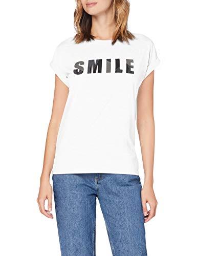 Cartoon Damen 2034/7512 T-Shirt, White/Silver, 36