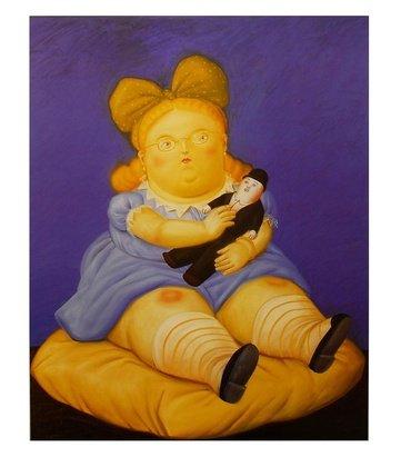 Fernando Botero Poster Kunstdruck Bild Die Puppe 58x49cm