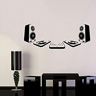 Pbldb Vinyl Wall Decal Sticker Room Music Dj Acoustic Speakers EDM Equipment 70X24Cm
