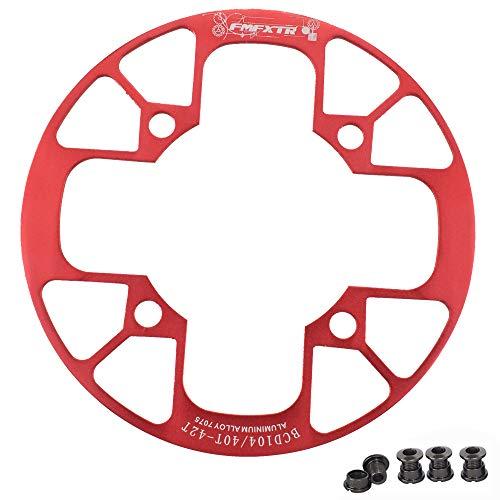 UPANBIKE Fahrrad Kettenblatt Schutz für Mountainbikes 104 BCD Aluminiumlegierung Kettenblattschutz für (40~42T,Rot)