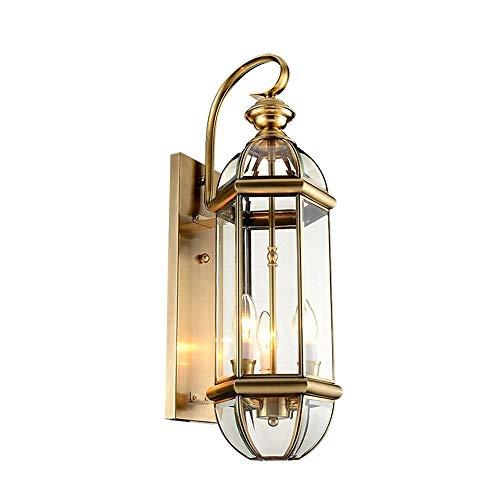NANYUN in de vrije wandlantaarn met schemering voor schemering lichtkast, inclusief ledlamp, matzwart wandlicht bevestiging, architecturale wandlamp met helder glas Shade for Entryway, Ve