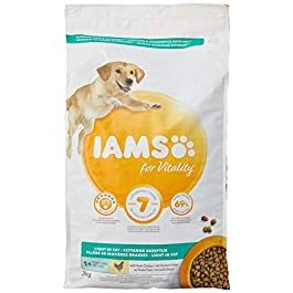 Iams Dry Dog Food Adult Light, 3 kg – Pack of 3