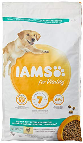 IAMS for Vitality Light in Fat alimento Secco per Cani in sovrappeso con Pollo Fresco - 9 kg