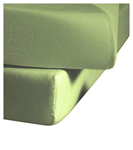 fleuresse Jenny C klassisches Jersey-Spannlaken, 100{6d776f763c10081e5bf9ce2b2ae444a1fbc33c6cfed45132c6c9ed979a0c4b2f} Baumwolle, mit praktischem Rundumgummi, Fb. Weiß, Größe 120 x 200 cm, auch passend für 110/130 x 200