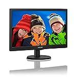 Philips 203V5LSB2 20inClass LED Monitor, TN Panel, 1600 x 900, 5ms, VGA, Wall Mountable (Renewed)
