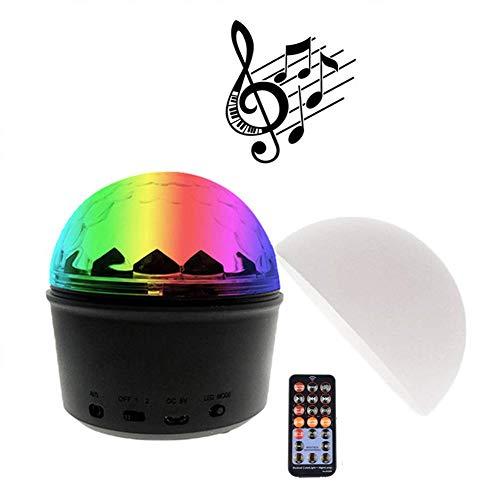 Discokugel LED Nachtlicht, Disco Lichteffekte mit Bluetooth Lautsprecher, Partylicht Discolicht Musikgesteuert, 9 Farbe Disco Lampe Kugel mit Fernbedienung USB Kabel für Kinder Geburtstag,Weiß