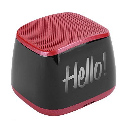 Mini Altavoz Bluetooth de emparejamiento estéreo inalámbrico, Altavoz Bluetooth portátil, para Oficina en casa, con Tres Modos de reproducción,(Red)