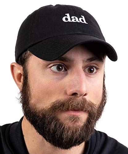 Ann Arbor T-shirt Co. Dad Hat | Funny Embroidered Baseball Cap Gift for Men Daddy Husband Father Joke – Black