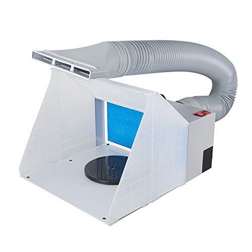 Tragbar Airbrush Spray Booth Kit Airbrush-Spritzkabine Airbrush Extraktor Abluftfilter Holzbausatz für Modellbauer