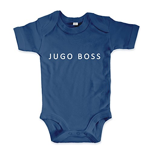 net-shirts Organic Baby Body aus Bio-Baumwolle mit Jugo Boss Aufdruck Balkan Apparel Jugo BossStrampler, Größe 3-6 Monate, Navy