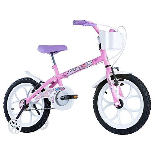 Bicicleta Infantil Aro 16 Pinky Rosa Fuccia, Track Bikes