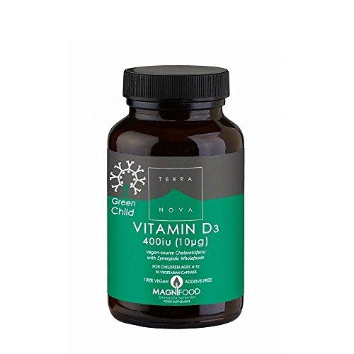 Terranova Nutrition Green Child Vitamin D3 400iu 50 Capsules