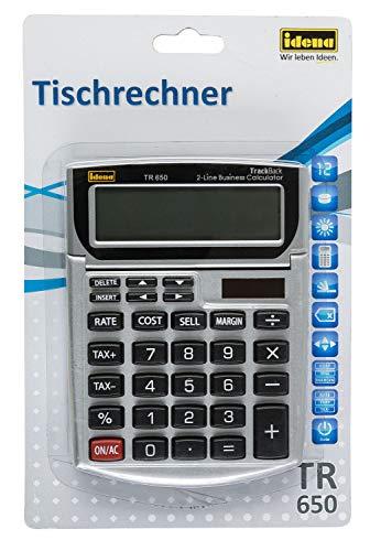 Idena 13201 Tischrechner TR 650, Business mit 12-stelligen Display