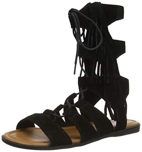 Minnetonka Damen MILOS/BLACK SUEDE Sandale, 37 EU