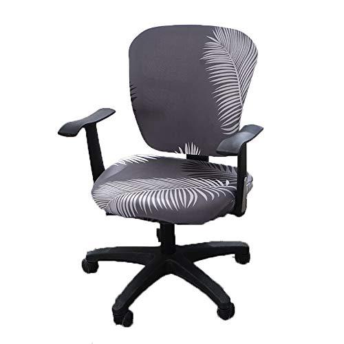 Wonderfulwu - Funda elástica para silla de oficina o de ordenador (elastano, extraíble, lavable, giratoria, giratoria)