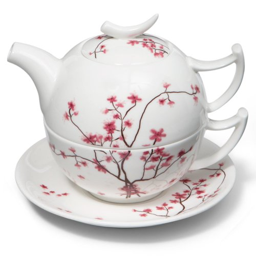 Cherry Blossom Tea for One Set TeaLogic Fine Bone China