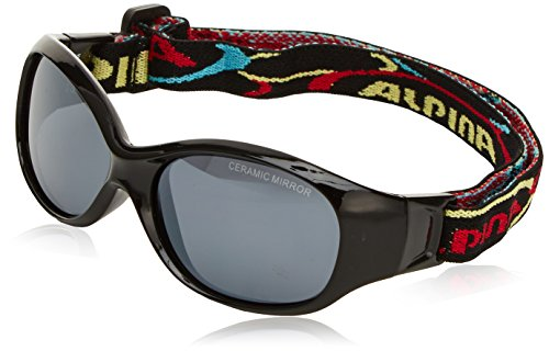 Alpina Kinder Sonnenbrille Line SPORTS FLEXXY Sportbrille, Black, One Size