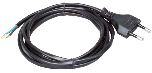Kopp 140605097 Euro-Zuleitung 2 m, schwarz