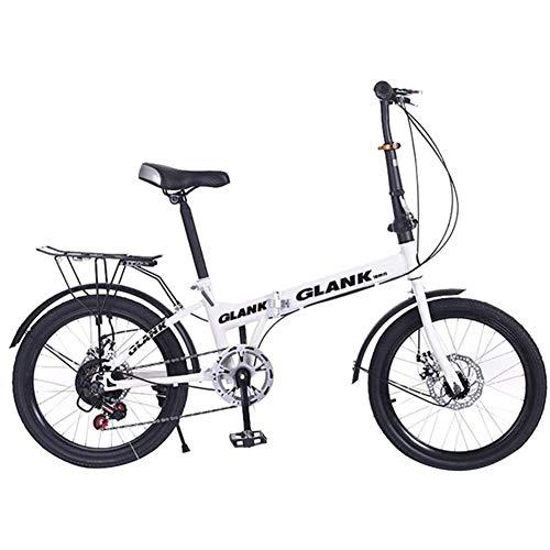 WJ Mini Folding Bike, 20 Zoll 15S Klapp...