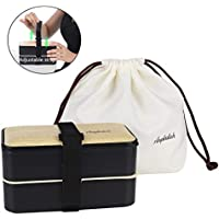 Acupteatech Bento Lunch Box with Upgraded Adjustable Strap