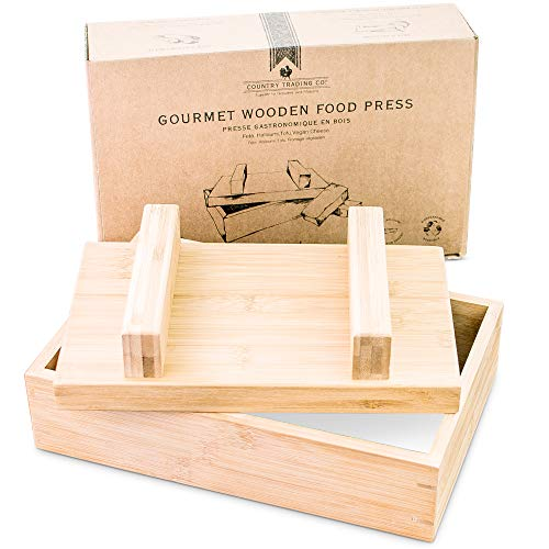 Tofu Press and Cheese Press for Making Feta, Halloumi, Mexican, Curds, Goats Cheese, Paneer and Vegan Nut Queso - Simple Wooden Food Press Mold Kit – Plastic-Free