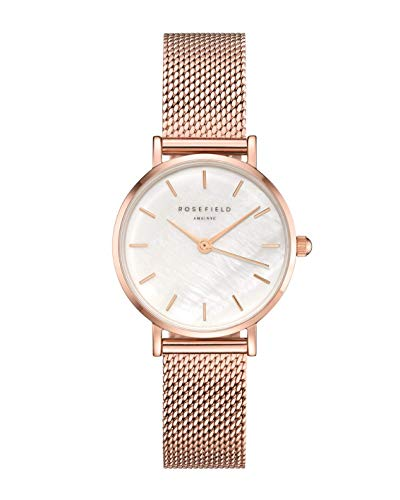 Rosefield Small Edit Womens Analog Quartz Watch with Stainless Steel Gold Plated Bracelet 26WR-265