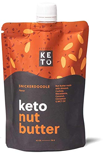 Perfect Keto Nut Butter Snack: Fat Bomb to Support Weight Management on Ketogenic Diet. Ketosis Superfood Raw Nuts|Cashew Macadamia Coconut Vanilla Sea Salt