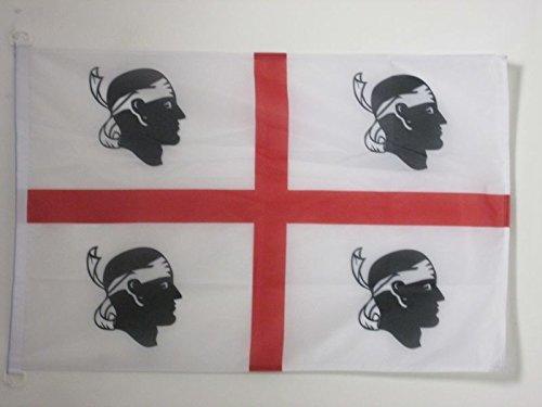 AZ FLAG Flagge SARDINIEN 90x60cm - SARDINIEN Fahne 60 x 90 cm Aussenverwendung - flaggen Top Qualität