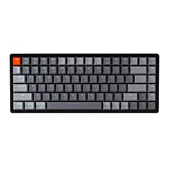 A 75% layout (84-key) RGB backlight compact Bluetooth mechanical keyboard. The ultimate tenkeyless keyboard that retains shortcut and arrow keys. Aluminum frame. Connects with up to 3 devices via Bluetooth 5.1 and switch among them easily. With high ...