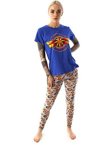 Marvel Captain Logo Print Women's Loungepants & T-Shirt Pyjama Set