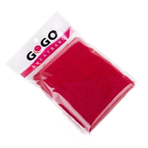 GOGO Thick Solid color Pro cinturino fascia tergisudore, unisex, Red
