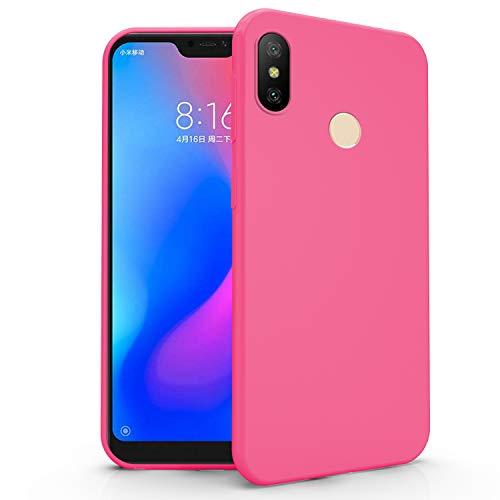 N NEWTOP Cover Compatibile per Xiaomi Mi A2 Lite, Custodia TPU Soft Gel Silicone Ultra Slim Sottile Flessibile Case Posteriore Protettiva (Fucsia)