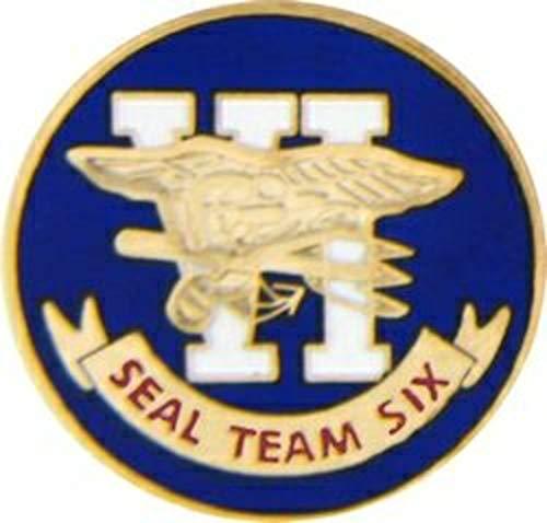 """US Navy SEAL Team 6 Lapel Pin or Hat Pin (metal, 1"""")"""