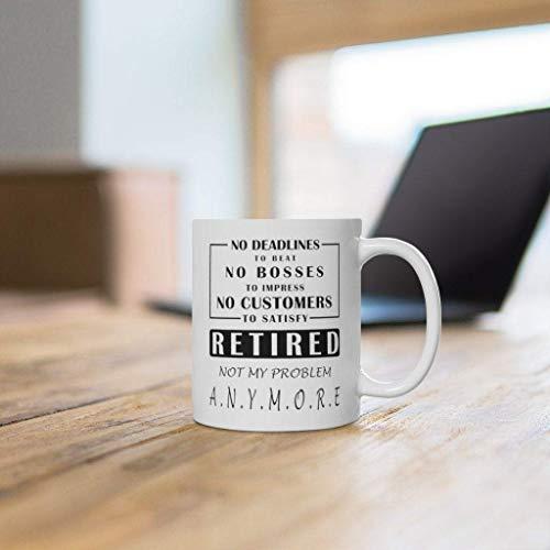 N\A Regalos de jubilación para Hombres Taza de café Divertida de jubilación No es mi Problema Ideas de Regalos de jubilación Regalos de jubilación 2020 Papá Jubilado Jefe Jubilación